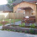 Van de Schoot Hoveniers Dinther achtertuin bestrating met planten in borders en vijver