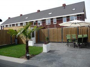 Van de Schoot Hoveniers Dinther achtertuin aangelegd met palmboom 2