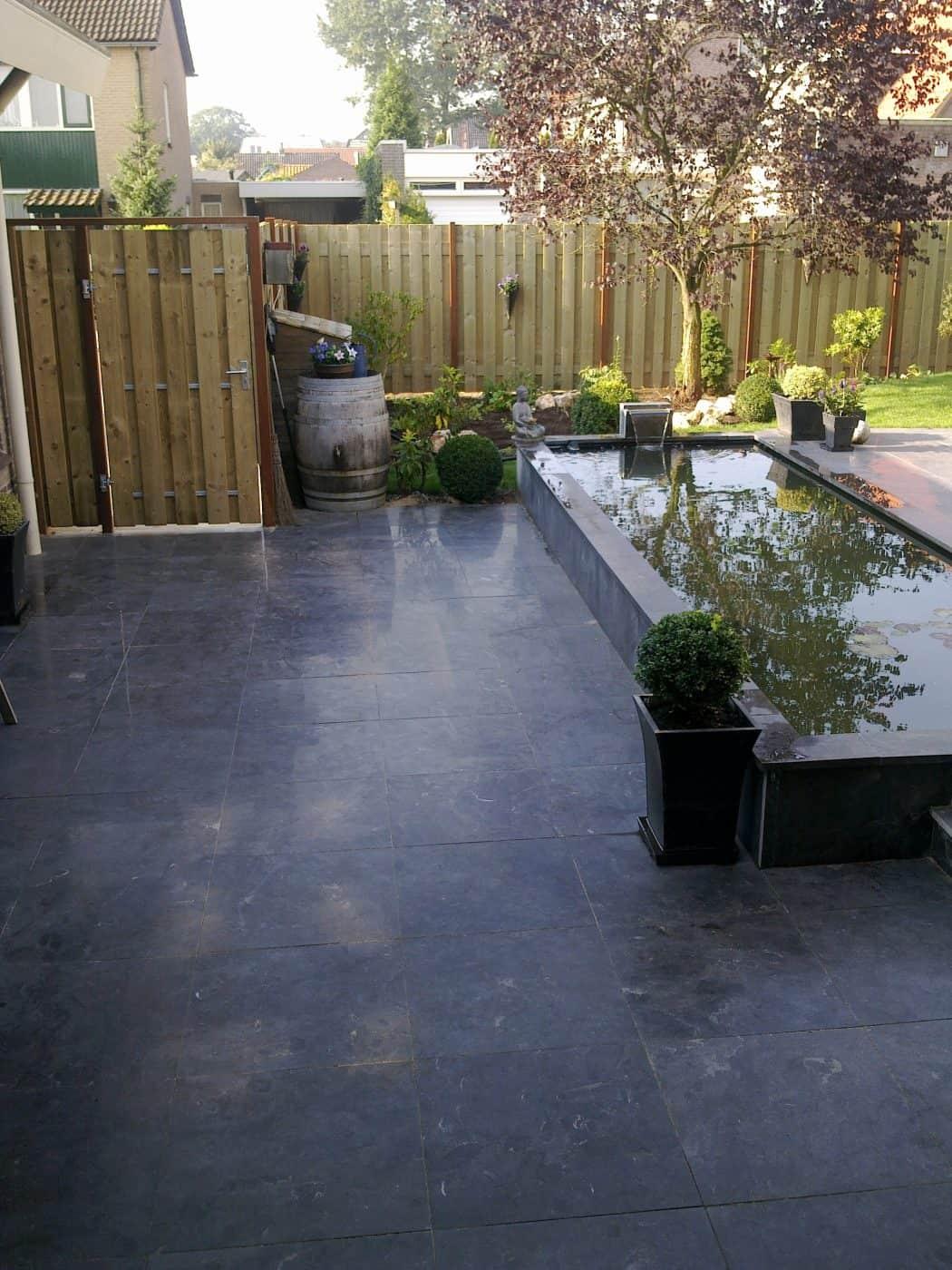 Van de Schoot Hoveniers Dinther achtertuin aangelegd met vijver 2