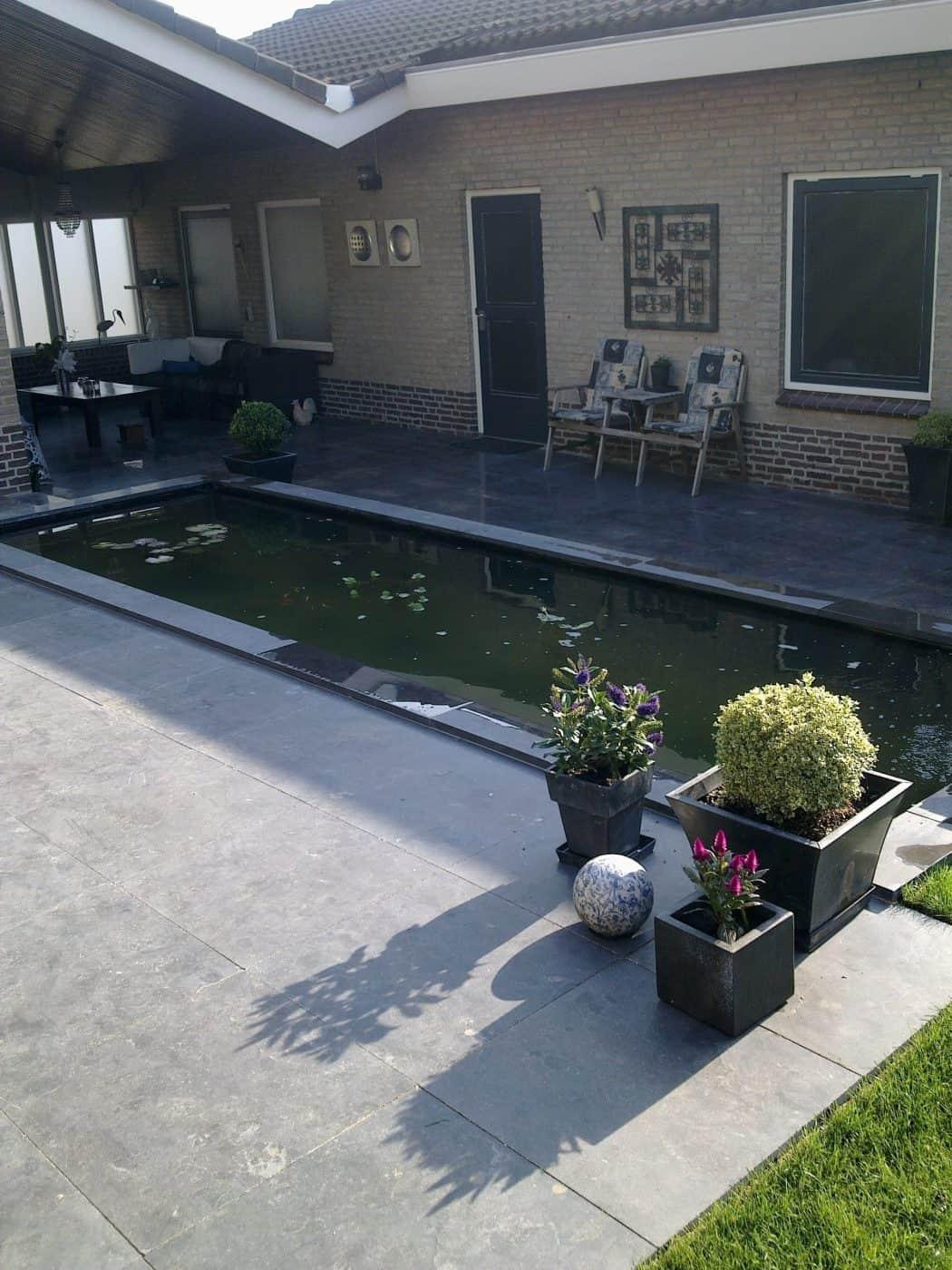 Van de Schoot Hoveniers Dinther achtertuin aangelegd met vijver 4