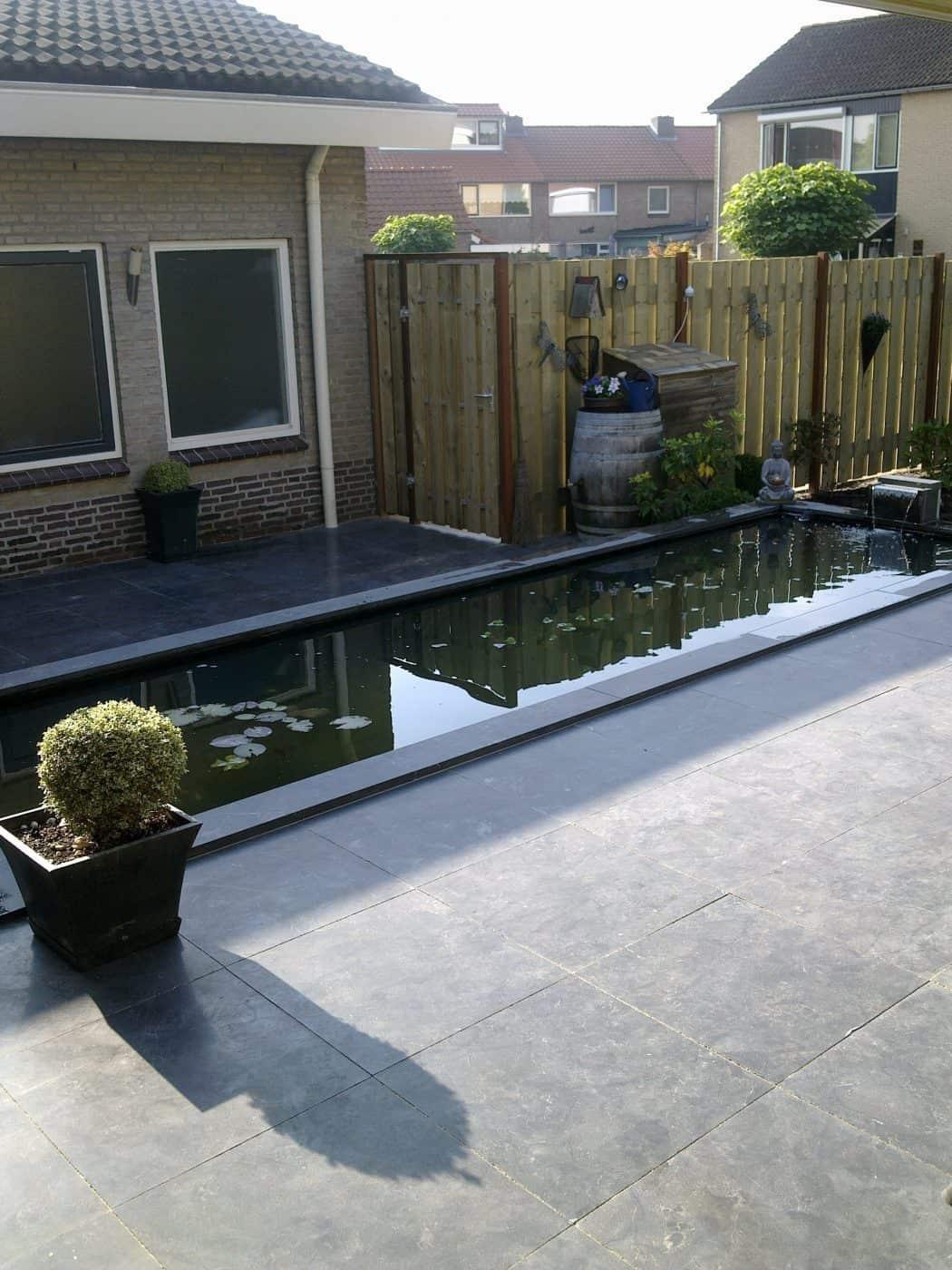 Van de Schoot Hoveniers Dinther achtertuin aangelegd met vijver 5