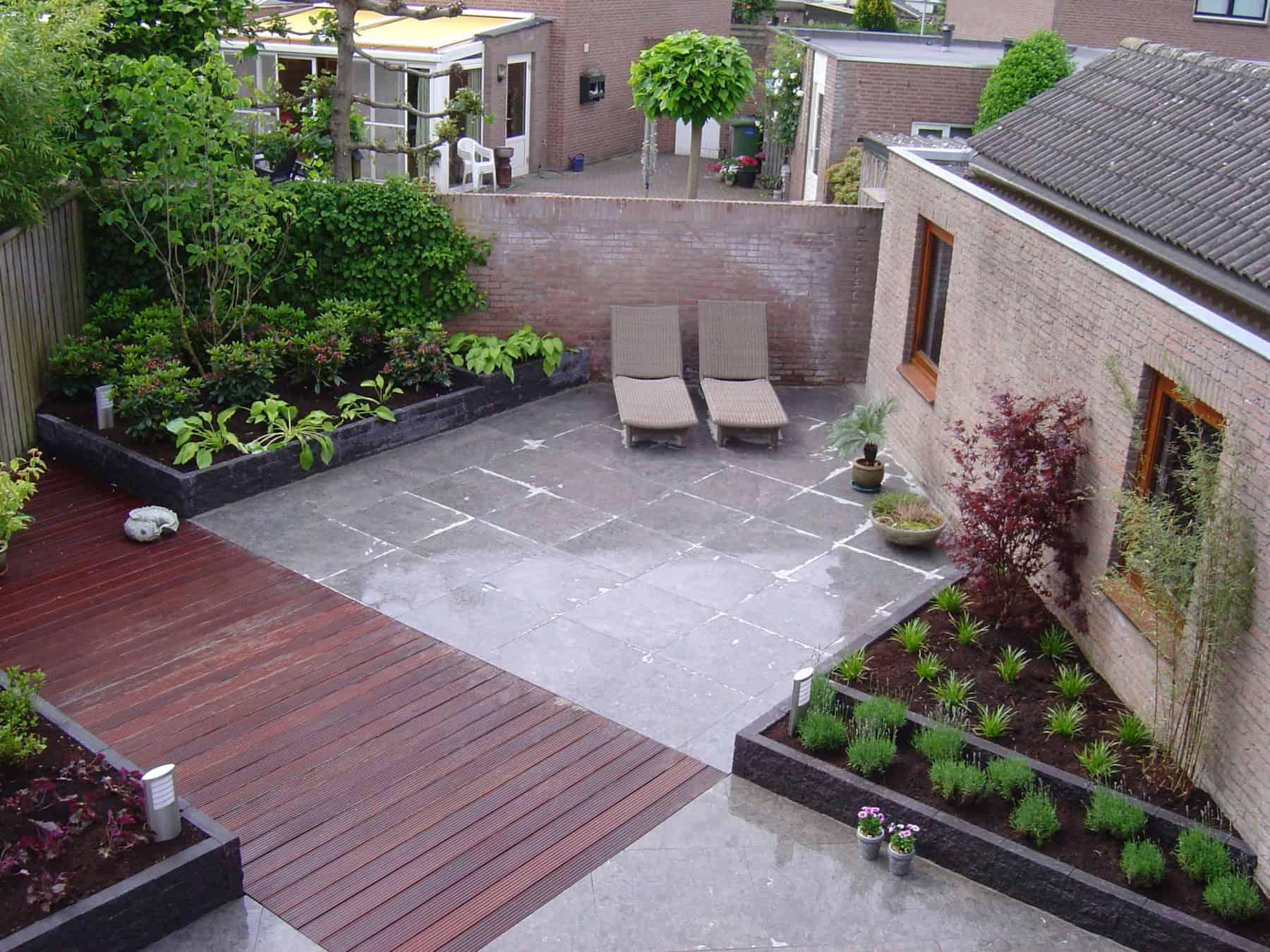 Van de Schoot Hoveniers Dinther moderne achtertuin met vlonder 3
