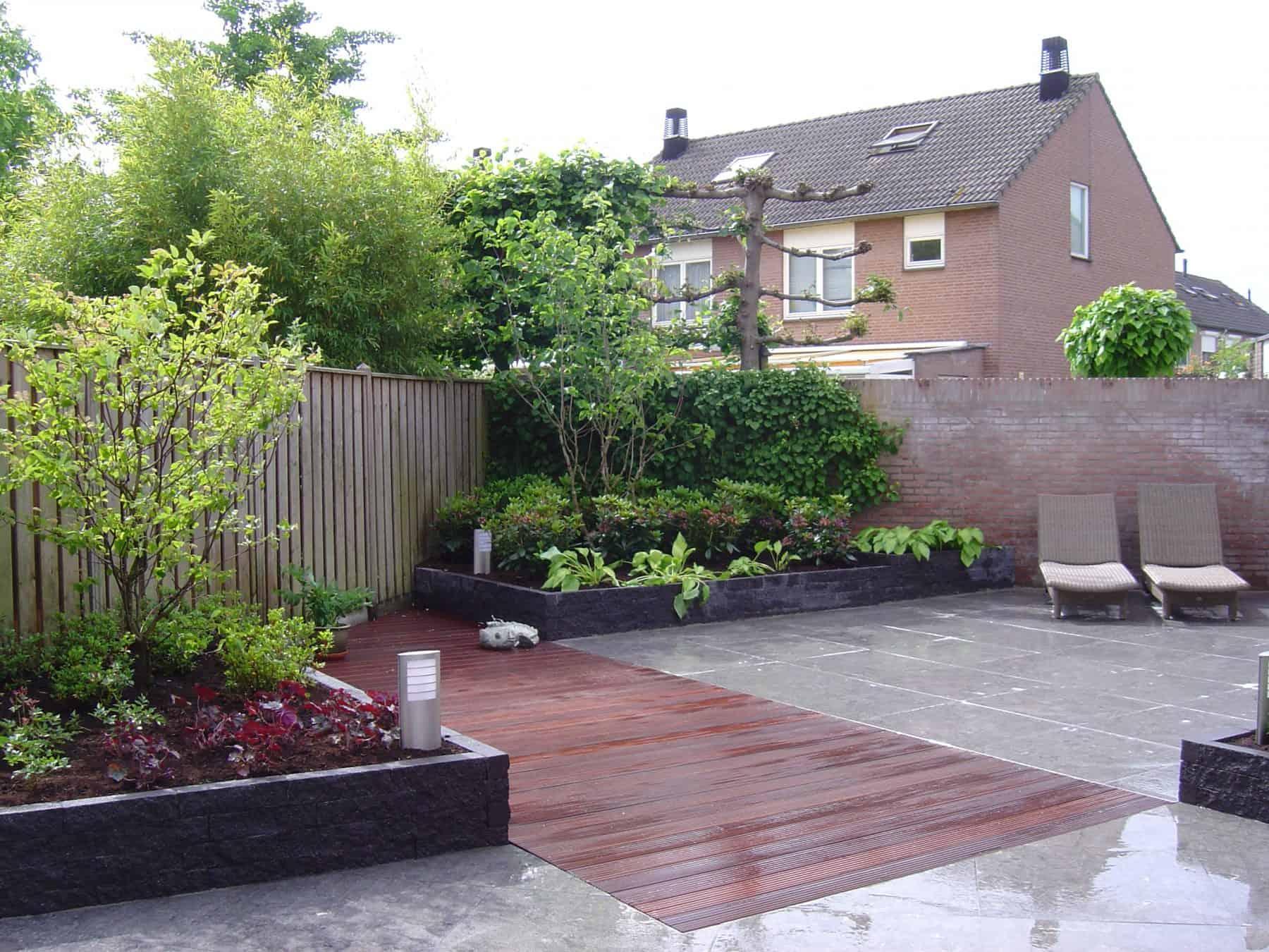 Van de Schoot Hoveniers Dinther moderne achtertuin met vlonder 4