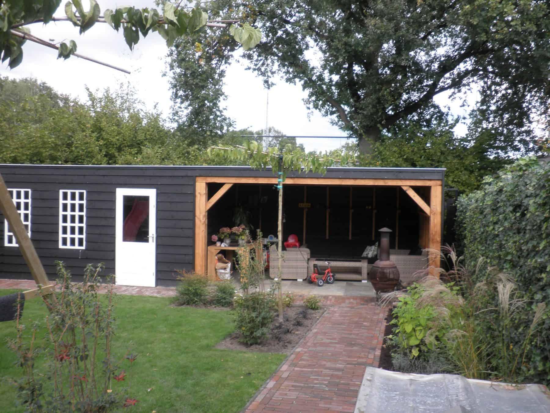 Van de Schoot Hoveniers houten overkapping 7